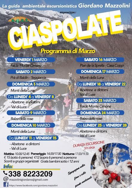 Itinerari escursionistici con Ciaspole in Abetone